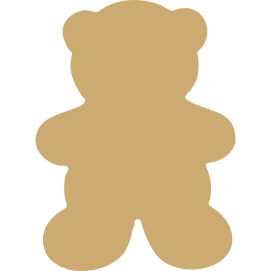 3mm MDF Teddy Bunting (pack of 10) Bunting