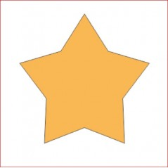 3mm MDF Country Star Small MDF Embellishments