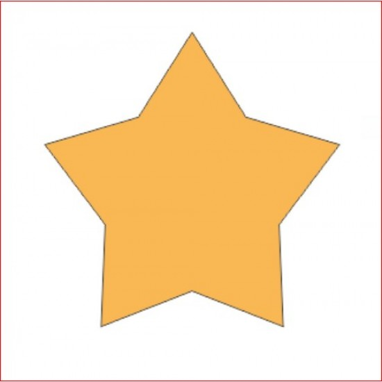 3mm MDF Country Star (pack of 10) Small MDF Embellishments