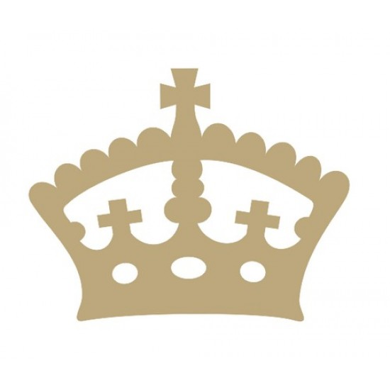 Regal Crown Small MDF Embellishments