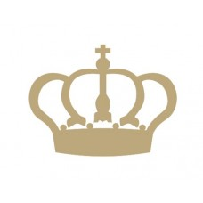 Royal Crown (Pack of 10)(3cm) Small MDF Embellishments