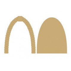3mm MDF Fairy Door with cobbled arch (2 pieces)