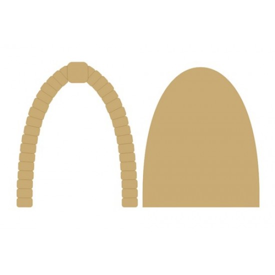 3mm MDF Fairy Door with cobbled arch (2 pieces) Fairy Doors and Fairy Shapes