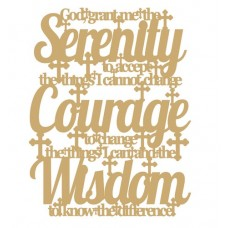 3mm MDF God grant me the serenity... Quotes & Phrases