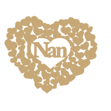3mm MDF Nan heart of hearts Hearts With Words