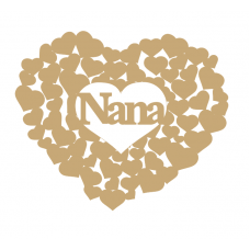 3mm MDF Nana heart of hearts Hearts With Words