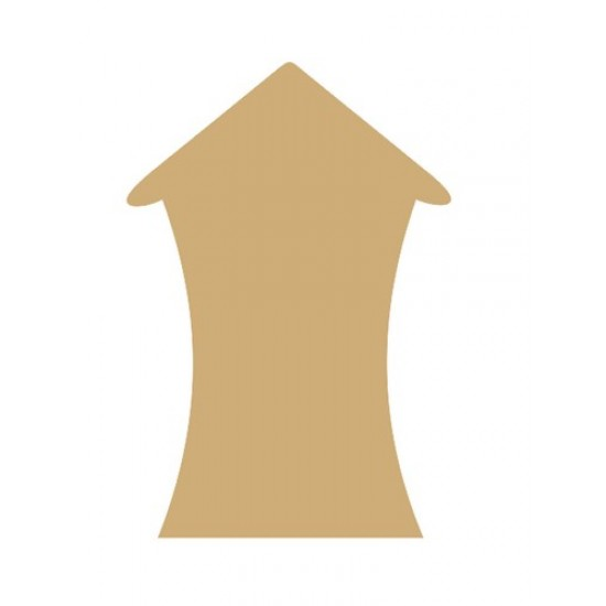 3mm MDF Bendy House (pack of 5)