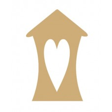 3mm MDF Bendy House with primitive heart cut out (pack of 5) Little Houses