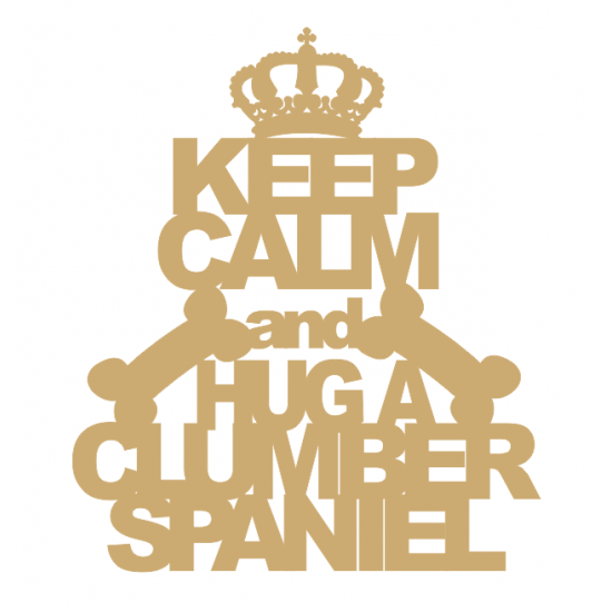 3mm MDF Keep Calm And Hug A Chihuahua Pet Quotes