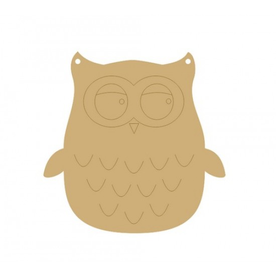 3mm MDF Owl Bunting (pack of 10) Bunting