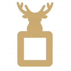 3mm MDF Reindeer head light switch surround Christmas Shapes