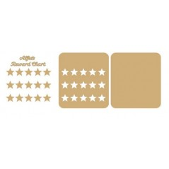 3mm MDF Personalised  Star Reward chart (with button handles)