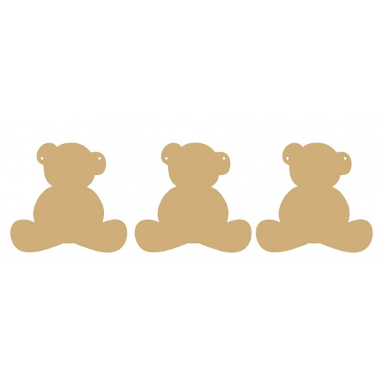 3mm MDF Teddy Bear bunting (pack of 10) Bunting