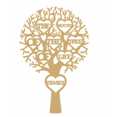 "3mm MDF ""THE ROOTS OF THE TREE OF LIFE FAMILY - Cut Out Tree  Trees Freestanding, Flat & Kits"