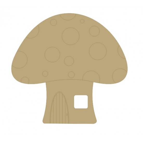 3mm MDF Toadstool House (cutout window) Fairy Doors and Fairy Shapes