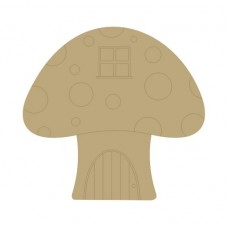 3mm MDF Toadstool House (window etched) Fairy Doors and Fairy Shapes
