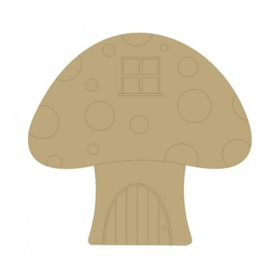 3mm MDF Toadstool House (window etched)