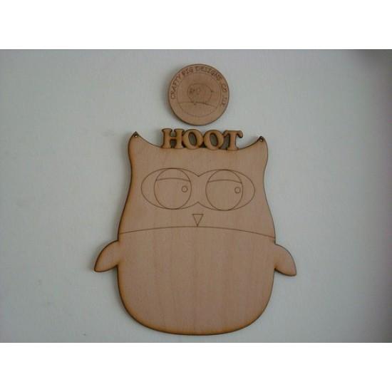 3mm MDF Hoot Owl Chalkboard Chalkboard Countdown Plaques
