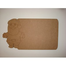 3mm MDF Santa Chalkboard Christmas Shapes