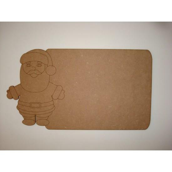 3mm MDF Santa Chalkboard Christmas Shapes