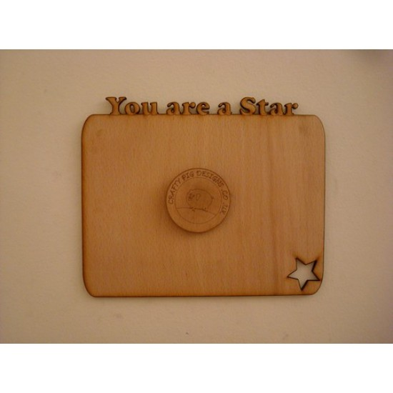 3mm MDF You Are a Star Chalkboard Chalkboard Countdown Plaques