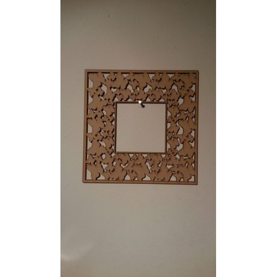 Multi Layer Butterfly Square Shapes Laser Cut Frame Basic Plaque Shapes