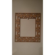 Butterfly Single Row Rectangular Frame Basic Plaque Shapes