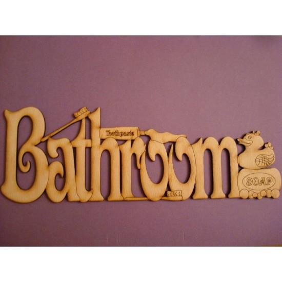 3mm MDF Detailed Bathroom Door Plaque  Room & Door Plaques