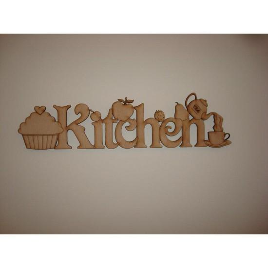 3mm MDF Detailed Kitchen Door Plaque Kitchen Plaques