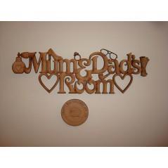 3mm MDF Mum and Dads Room Door Plaque