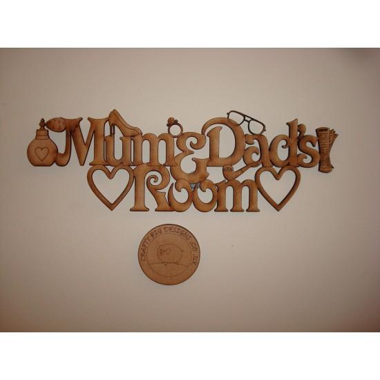 3mm MDF Mum and Dads Room Door Plaque Room & Door Plaques