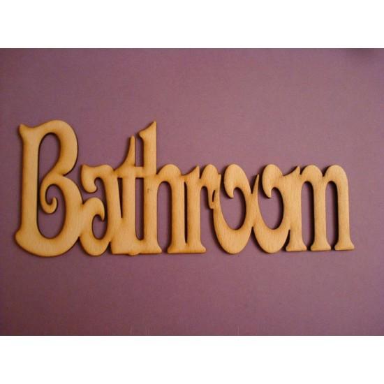 3mm MDF Basic Bathroom Door Plaque  Room & Door Plaques