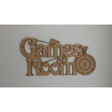 3mm MDF Games Room Sign Room & Door Plaques