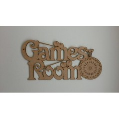 3mm MDF Games Room Sign Room & Door Plaques