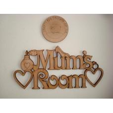 3mm MDF Mum's Room Door Plaque Room & Door Plaques