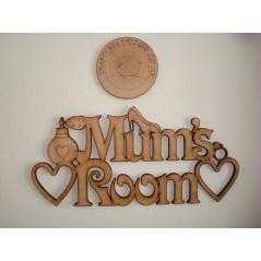 3mm MDF Mum's Room Door Plaque