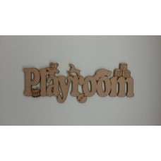 3mm MDF Playroom Sign Room & Door Plaques