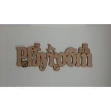 3mm MDF Playroom Sign Room & Door Plaques