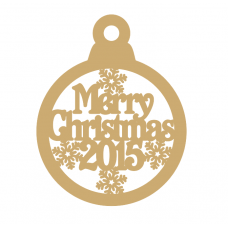 3mm MDF Merry Christmas 2021 bauble Christmas Baubles