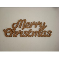 3mm MDF Merry Christmas Hanging plaque Joined Words