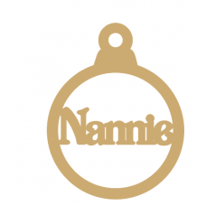 3mm MDF Nannie bauble Christmas Baubles