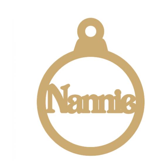 3mm MDF Nannie bauble Christmas Baubles