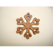 3mm MDF Snowflake 2 Christmas Shapes
