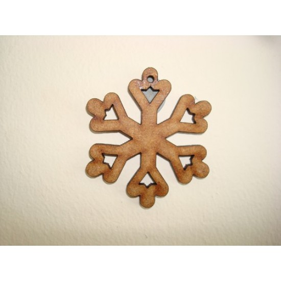 3mm MDF Snowflake 2 Christmas Shapes