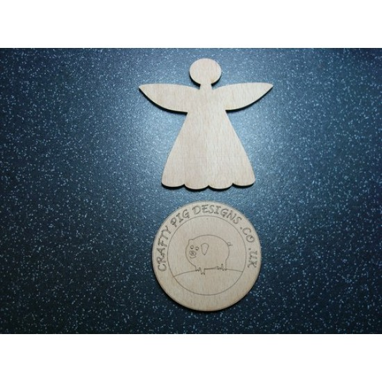 3mm MDF Christmas Angel Plain Skinny Wings (pack of 5)(100mm) Christmas Shapes