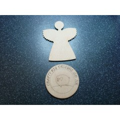 3mm MDF Christmas Angel Plain Chunky Wings (pack of 5)(100mm)