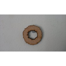 3mm MDF Christmas Wreath (3cm) and Candy Cane (4cm) set (pack of 10) Christmas Shapes