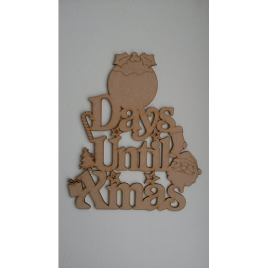 3mm MDF Days Until Xmas (Pudding Top) Chalkboard Countdown Plaques