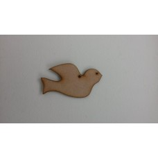 3mm MDF Christmas Dove (pack of 5) Christmas Shapes