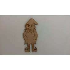 3mm MDF Christmas BOY Elf (pack of 5)(100mm) Christmas Shapes